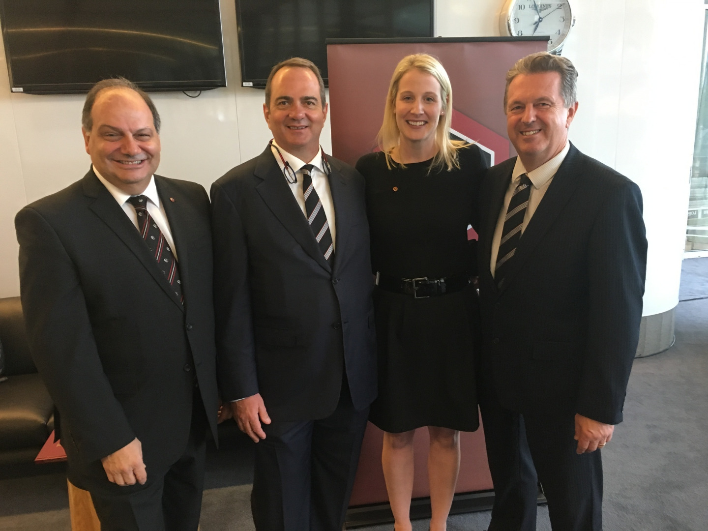 Chairman Michael Crismale with new Members John Ingham, Kirsten Thomsen, Neil Armstrong