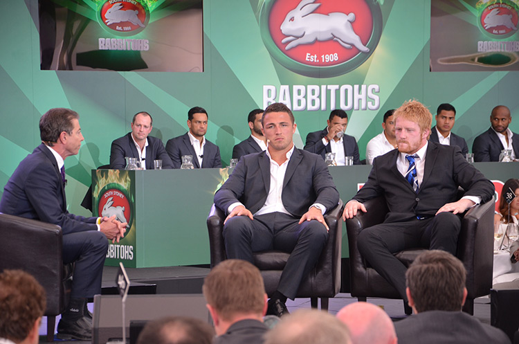 Greg Alexander interviews Sam Burgess (Souths) and James Graham (Bulldogs)